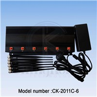 CK-2011C-6B GPS+Cell Phone+Bluetooth Signal Jammer