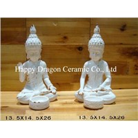 Ceramic Buddha Staatues, Candle Holder,Home Decoration,Fengshui Products