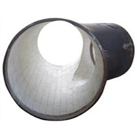 Ceramic tile lined steel Pipes -chute