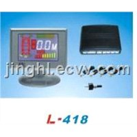 Colorized LCD Parking Sensor