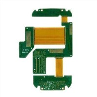 Four-layer Rigid-flex PCB with Stiffener, Made of FR4 and PI Material