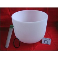 Frosted Quartz Crystal Singing Bowl
