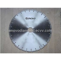 Laser welded diamond blade with key slot