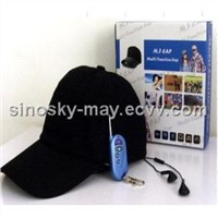MP3 Cap Camera DVR/Hat Camera/Cap DVR/Camera Cap