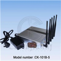 New 5 bands Desk Cell phone(WIFI) singal jammer CK-101B-5(2.4G)