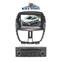 PEUGEOT 207 Car DVD GPS Player with 7-Inch Touch Screen/RDS/BT/GPS