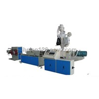 PE,PP single wall corrugated pipe machine