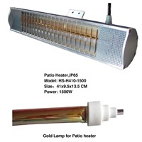 Patio Heater with Gold Lamp