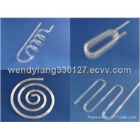 Spiral shape quartz glass tube