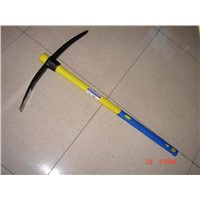 Steel Pickaxe with fiberglass handle
