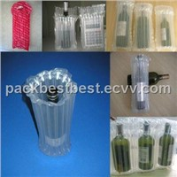 Wine bottle inflatable air packaging bag