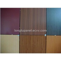 Wooden vein alumimum composite panel
