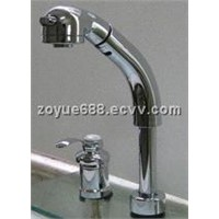 ZYA6028 double handles brass basin fixtures