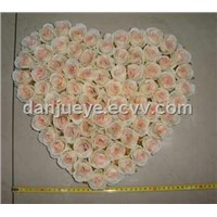 Artificial Silk Decorative Flower Mat for Wedding Decoration