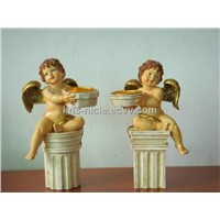ceramic angel candle holder