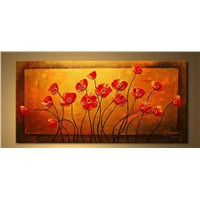 discount flower painting on canvas