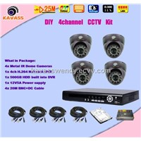 ir dome camera and network DVR security system