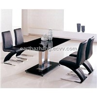latest style glass dining table xydt-066