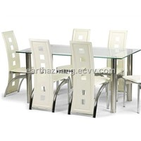 modern furniture glass dining table and chair xydt-043