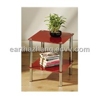 red glass coffee/tea/side table xyct-023