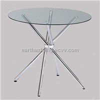 round tempered glass dining table xydt-131