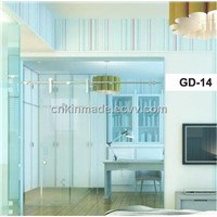 Stain Finished Sliding Door, 304ss Glass Sliding Door