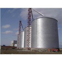 Steel Silos for Grain Storage with Flat Bottom