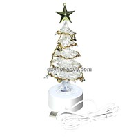 Christmas USB crystal handmade LED Tree
