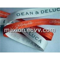 Grosgrain Ribbon with One-Color Screen Print