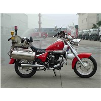 250cc Fire Fighting Motorcycle with water mist extinguisher system