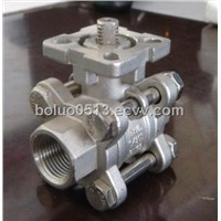 3-Piece Thread Ball Valve with Mounting