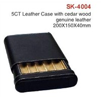 5CT Leather Case with Cedar Wood