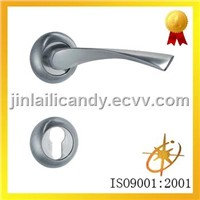 Aluminum door handle lock on escutcheons