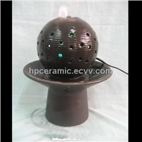 Black Ball Ceramic Water Fountain