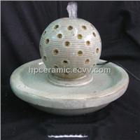 Carving Ball Ceramic Water Fountain