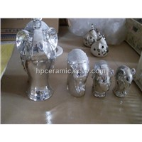 Ceramic Silver Plated Elephant
