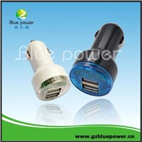 Dual USB car charger for iphone power adaptor