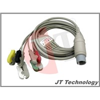 5 leads Complete ECG Cable with clips