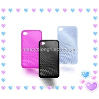 Fashionable soft plastic case for iphone 4G