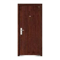 Flat Steel Wooden Armored Door