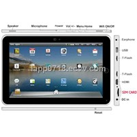 "FlyTouch4""/10.2 inch LCD/ Android 2.2/SIM CARD interface/3G build in"
