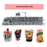 Food packing machine with BHD-180S form-fill-seal doy pack pouch