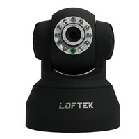 Free Shipping Loftek Indoor Wireless IP Cam Wifi LED Remote Pan/Tilt Camera, white color