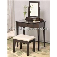 Espresso Bedroom Makeup Vanity Set