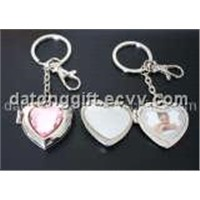Heart Shape Photo Frame Metal Keyholder