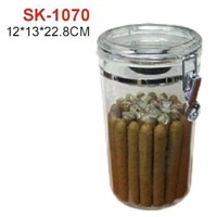 Holds 25 Cigars Acrylic Cigar Jars