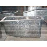 Magnesium alloy crucible