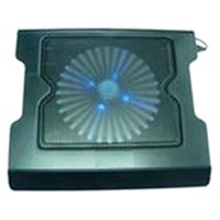 Hot Model Notebook Cooling Pad ! One Big Fan with Two Hub with LED Light (NTC205)