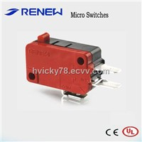 Pin Plunger Type Micro Switch (UL/CE certificates)