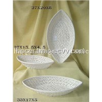 Porcelain Knitting Bread Plate
